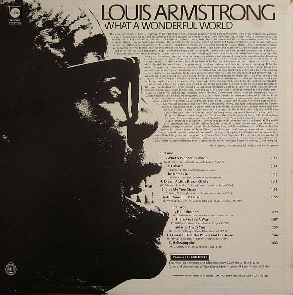 a biography of louis armstrong who blasted swing and jazz into the music world Louis daniel armstrong (august 4, 1901 – july 6, 1971), nicknamed satchmo , satch or pops , was an american trumpeter, composer, singer and occasional actor who was one of the most influential figures in jazz.