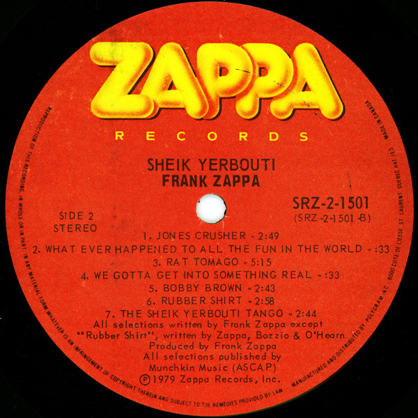 Frank Zappa Discography at Discogs